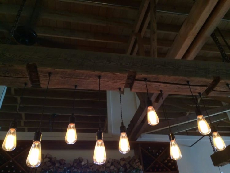 Rustic Wood Light Fixture with Reclaimed Beam Chandeliers Wood Lamps