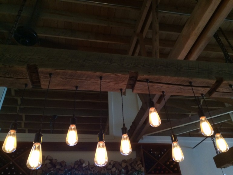 Rustic Industrial Modern Mason Jar Light Fixture Porch By: Huge Rustic Industrial Chandelier With Reclaimed Wood Beam