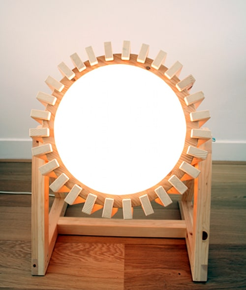 Wood Projector Lamp