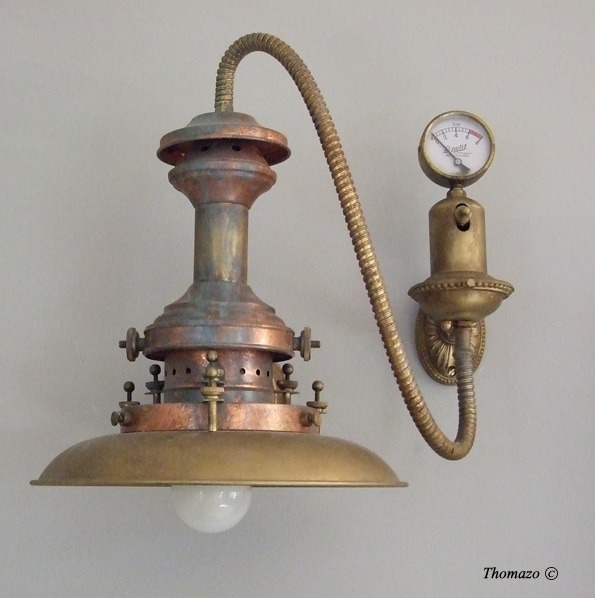 Antique Steampunk Wall Sconce Wall Lamps & Sconces