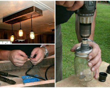 DIY Tutorial: Mason Jar Chandelier