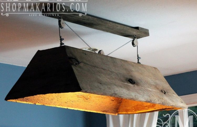 hanging barn wood chandelier id lights