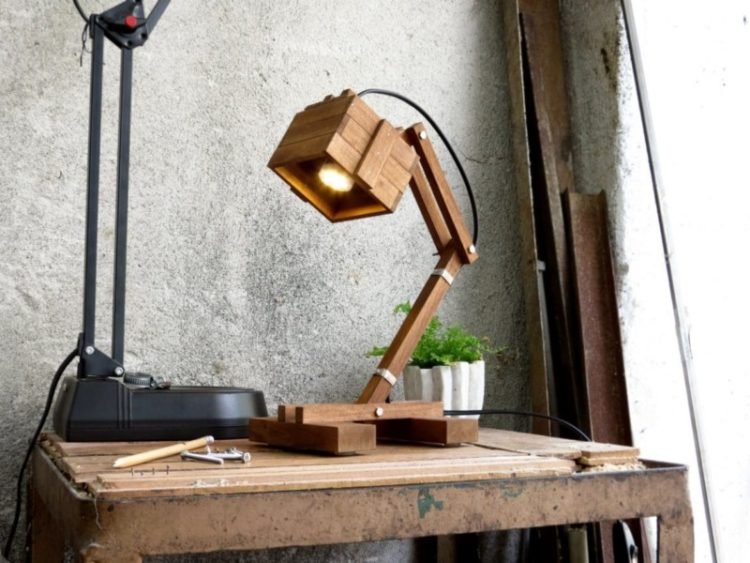 8 Best Handmade Wooden Desk Lamps - wood-lamps, desk-lamps