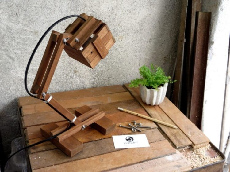 Office Wooden Desk Lamp