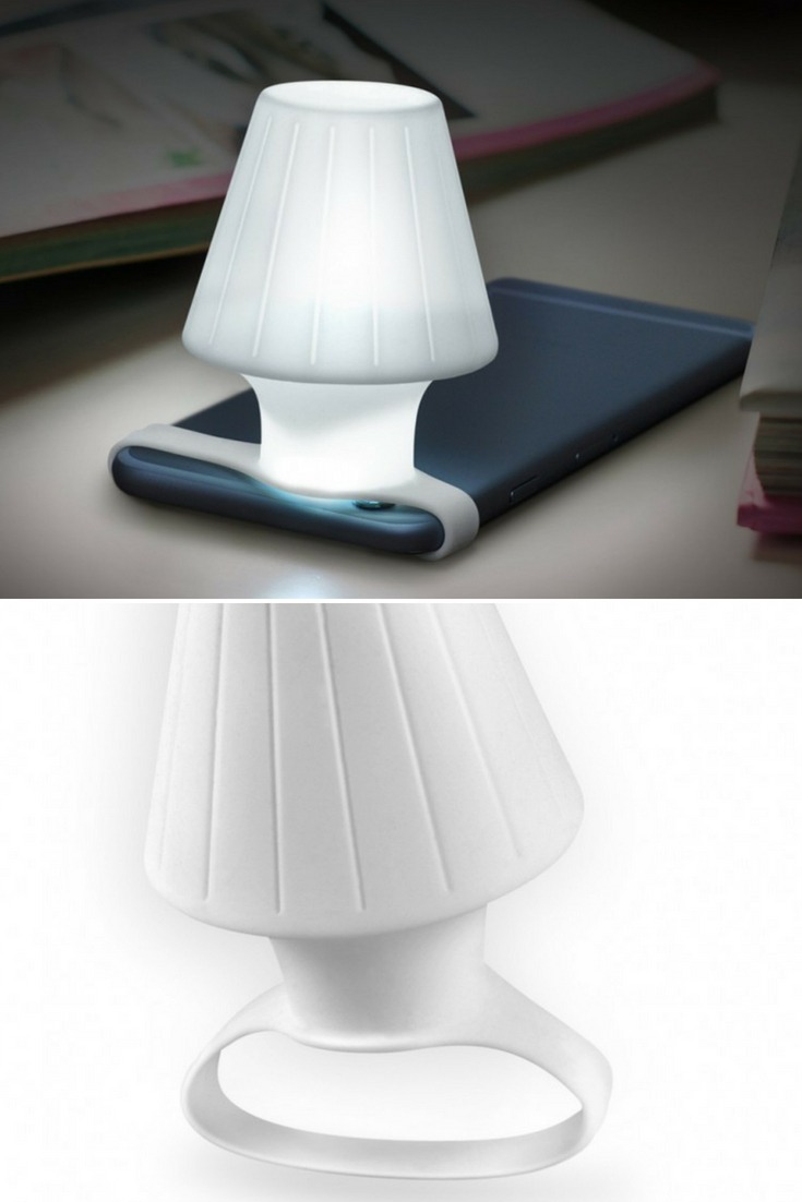 Travelamp: Turns Your Phone's LED Flash Into A Table Lamp - desk-lamps
