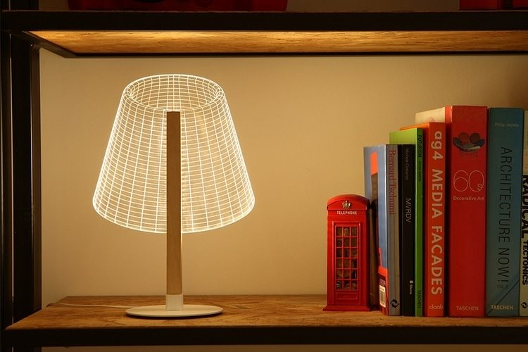 Bulbing: 3D Classic-Cool Optical Illusion Desk Lamps - desk-lamps