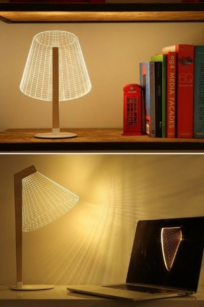 Bulbing: 3D Classic-Cool Optical Illusion Desk Lamps