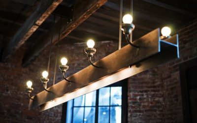 Industrial Light Fixture with Repurposed Steel Beam