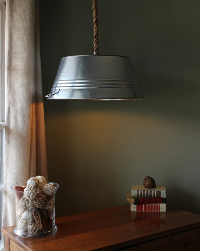 Modern Farmhouse Lighting with Tub and Rope - pendant-lighting