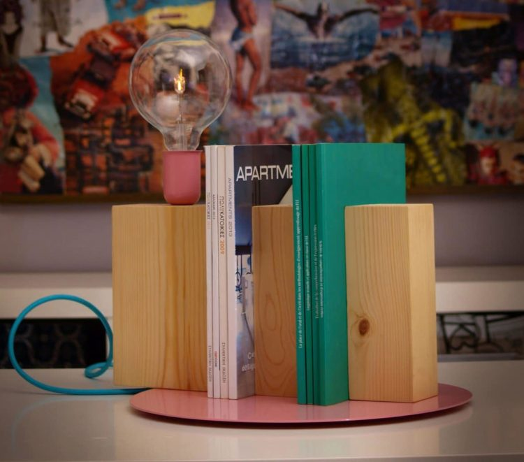 Stand By Me Wooden Bookcase Lamp