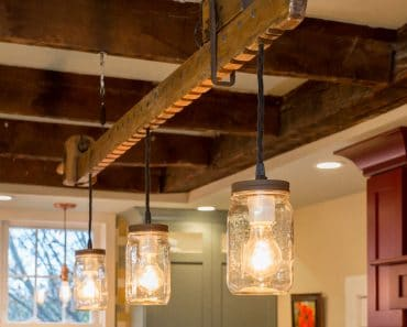 1800's Historical Farmhouse Wood Beam Light