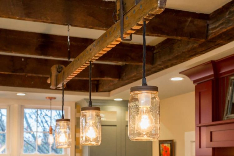 Modern Farmhouse Lighting with Wood Chandelier - wood-lamps, restaurant-bar, pendant-lighting