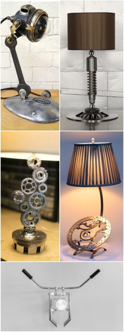 6 Motorcycle Table Lamps, Only for Bikers