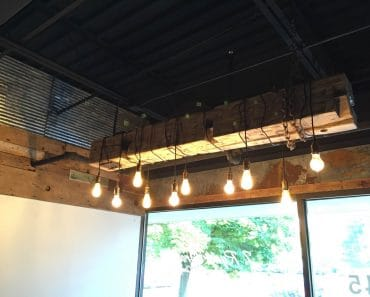 Barn Wood Beam Light Fixture