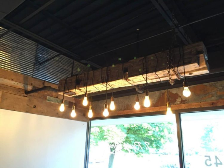 Barn Wood Beam Rustic Industrial Chandelier Id Lights