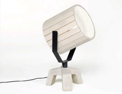 Barrel Wood Lamp