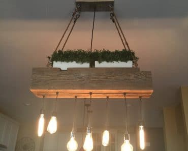 Custom Reclaimed Barn Wood Beam Light Fixtures
