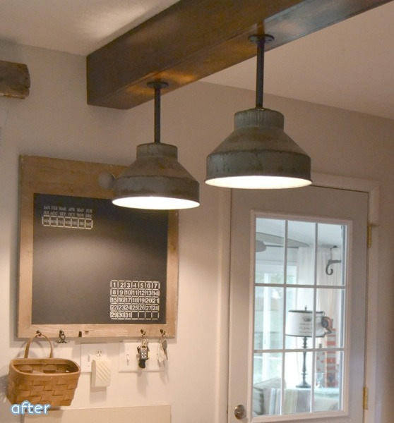 DIY: Galvanized Colanders Ceiling Light Tutorial - wood-lamps, flush-mount-lighting