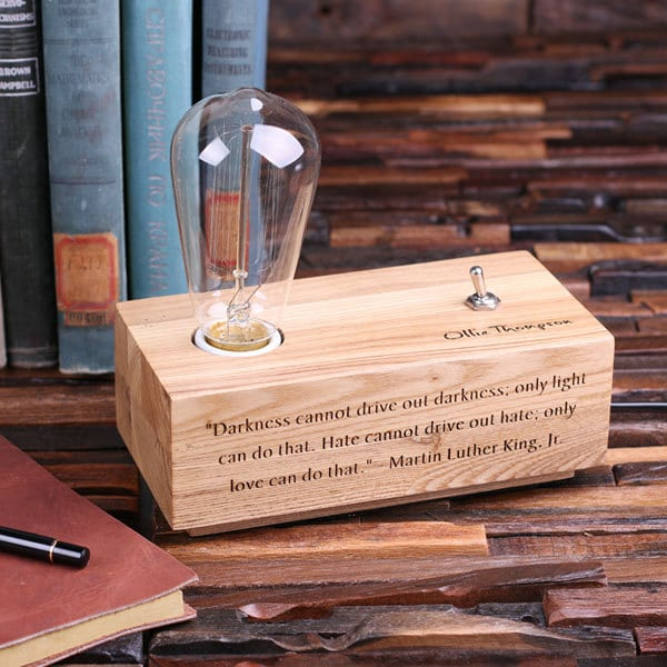 Lovely Custom Handmade Wood Desk Lamp - wood-lamps, desk-lamps