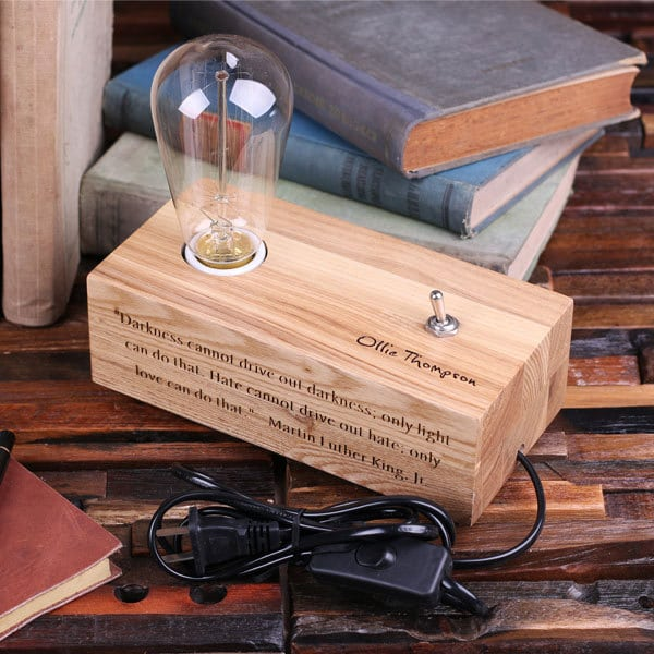 Handmade Wooden Lamps : Lovely custom handmade wood desk lamp id lights