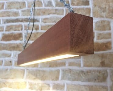 Modern Wood LED Beam
