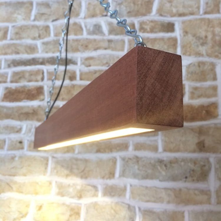 How to combine Wood and Modern Beam - wood-lamps, restaurant-bar, pendant-lighting