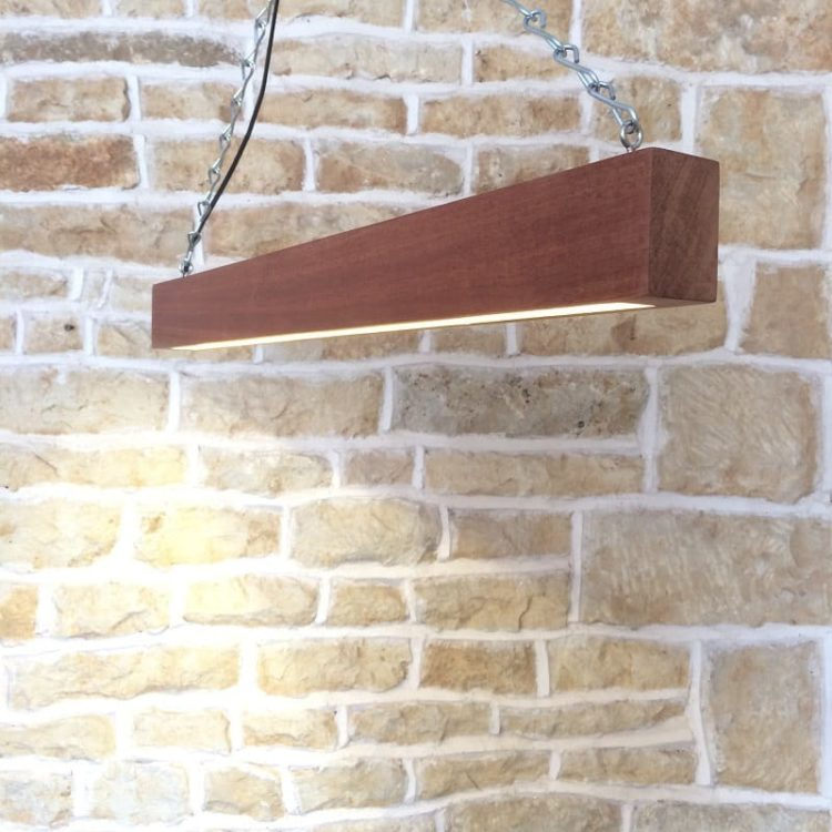 How to combine Wood and Modern Beam... - wood-lamps, restaurant-bar, pendant-lighting