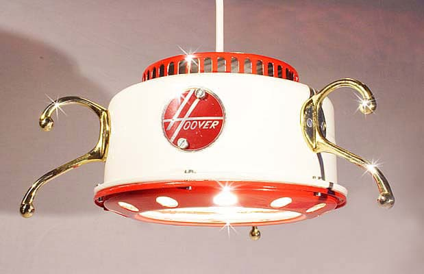 Old Vacuum Cleaner Chandelier Pendant Lighting - pendant-lighting