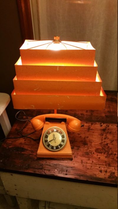 Original Vintage Mid-Century Telephone Lamp