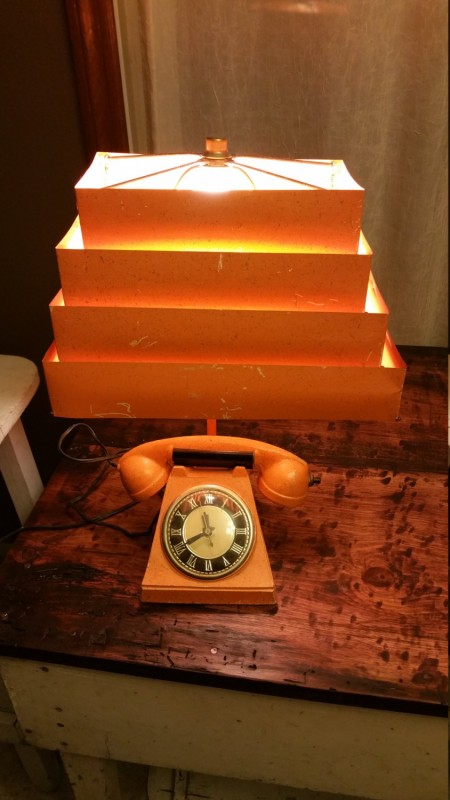 Check this Vintage Mid-Century Telephone Desk Lamp Table Lamps