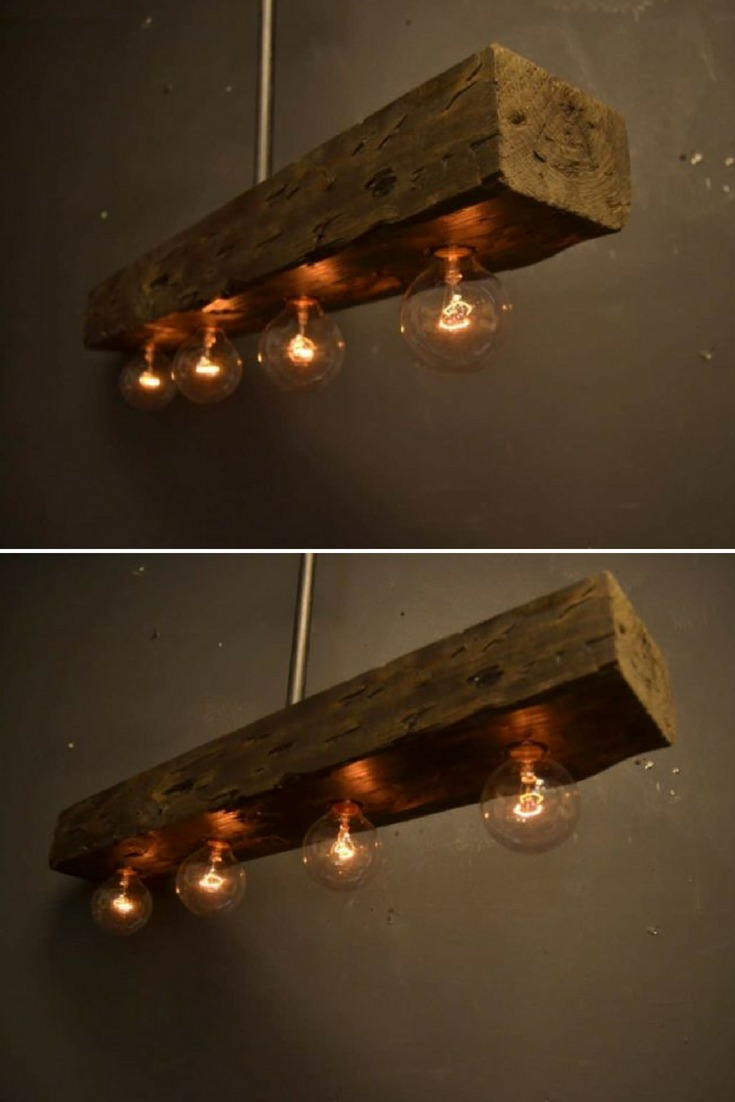 Reclaimed Wood Chandelier Light Fixture Id Lights