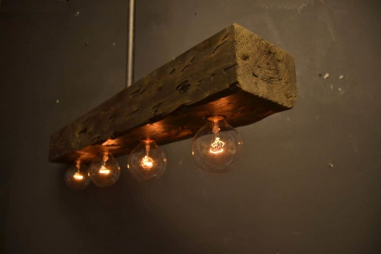 Reclaimed Wood Chandelier Light Fixture Pendant Lighting Wood Lamps