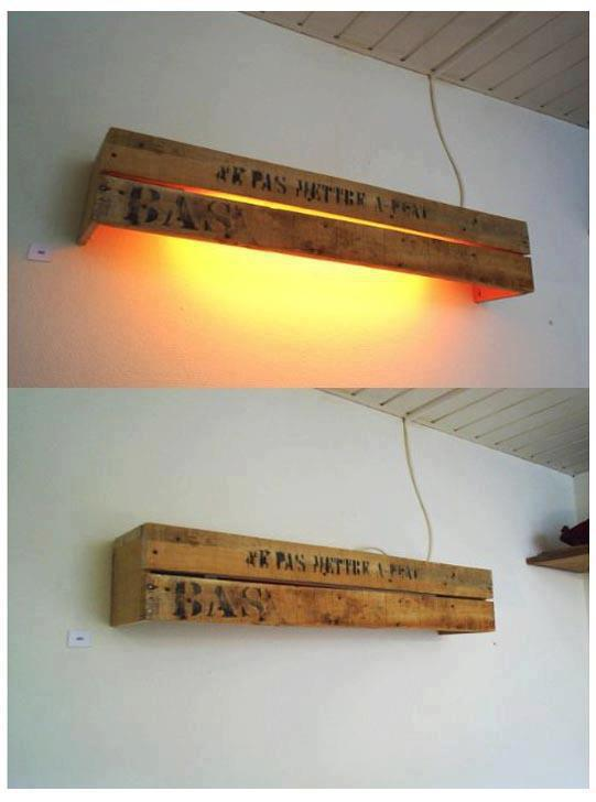10 Inventive Ideas of Wood Pallet Lamps - wood-lamps, table-lamps, pendant-lighting