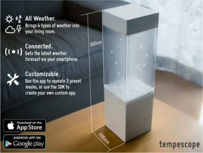 Tempescope Lamp show weather