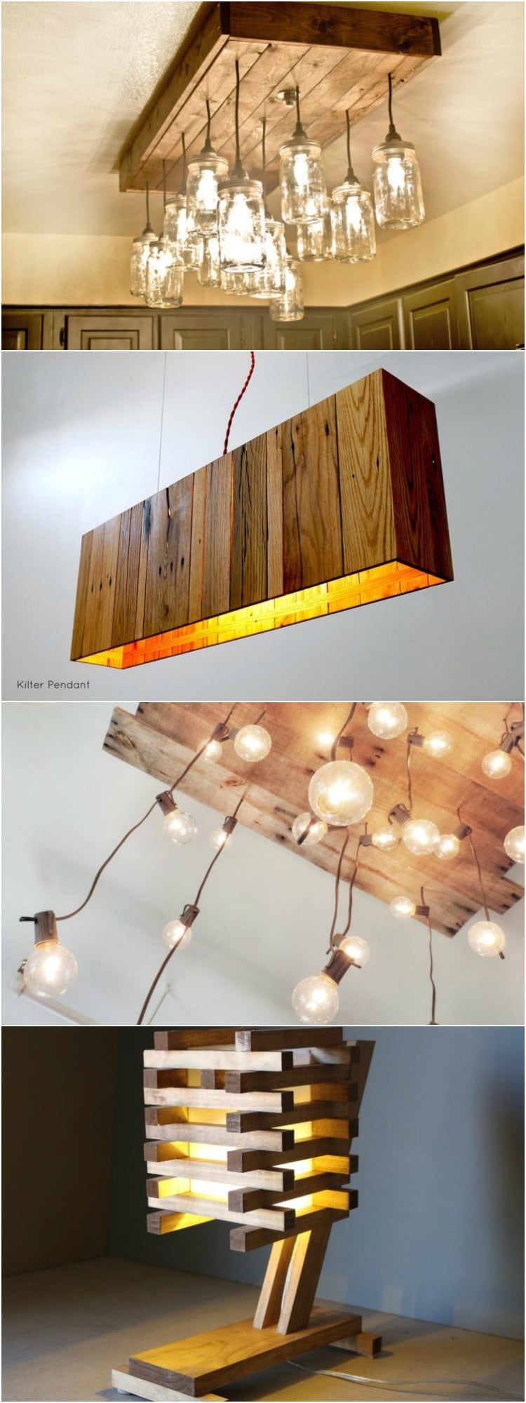 Wood is maybe the most used material in home decor designing, but it could be expensive... So why not use a recycled wood pallet to create your own trendy lamp! Here you will find 10 of the best inventive ideas to recycle wood pallets into lamps, take some inspiration... #wood #pallet #diy #recycle #lamp #lighting #woodworking #woodworkingprojects #homedecor #idlights