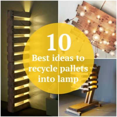 10 Best ideas to recycle pallets into lamp
