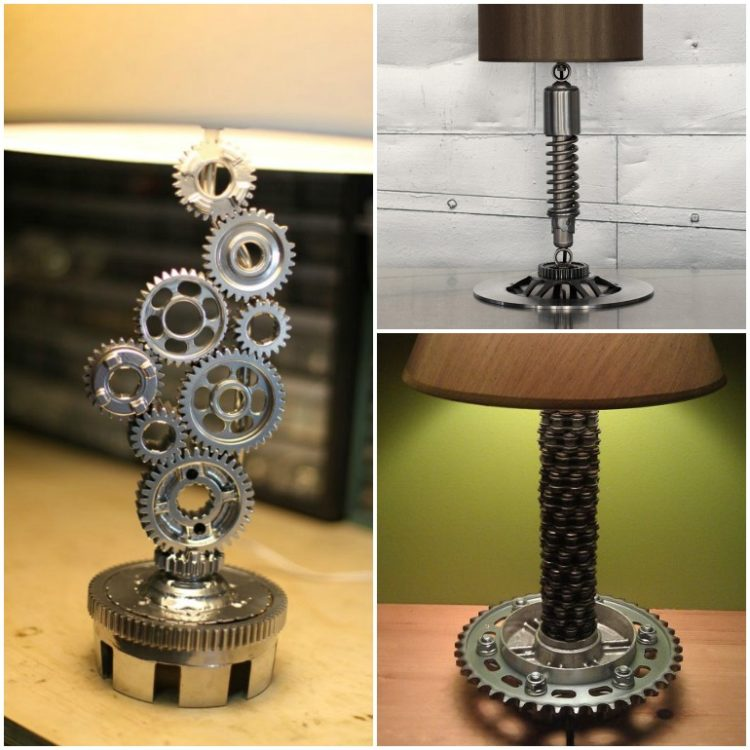 6 Motorcycle Industrial Table Lamps, Only for Bikers - table-lamps