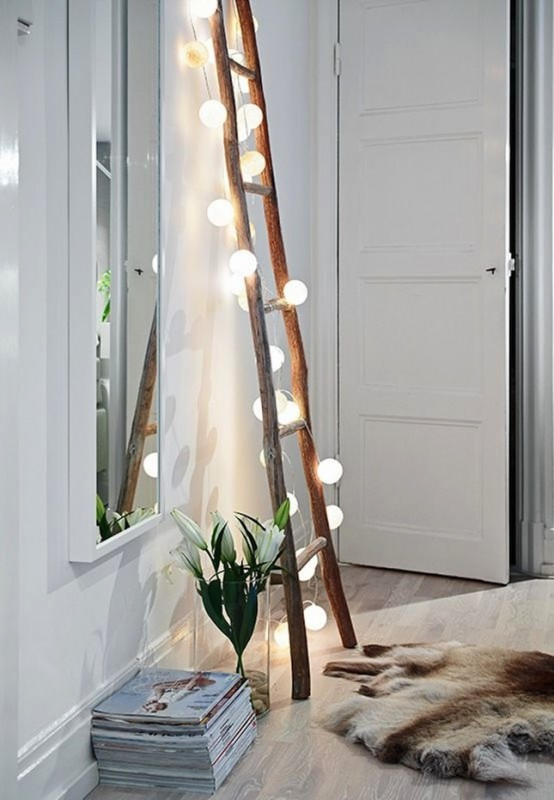 10 Ways to Decorate with String Lights, before Christmas... - wood-lamps, pendant-lighting