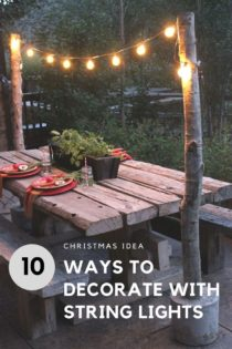 10 Ways To Decorate With String Lights Before Christmas