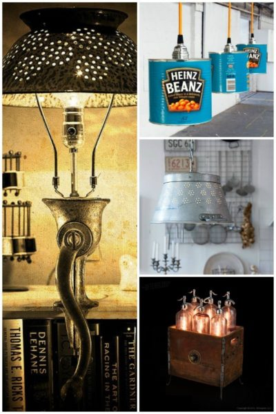 15 ideas to recycle your kitchen tools into lamps