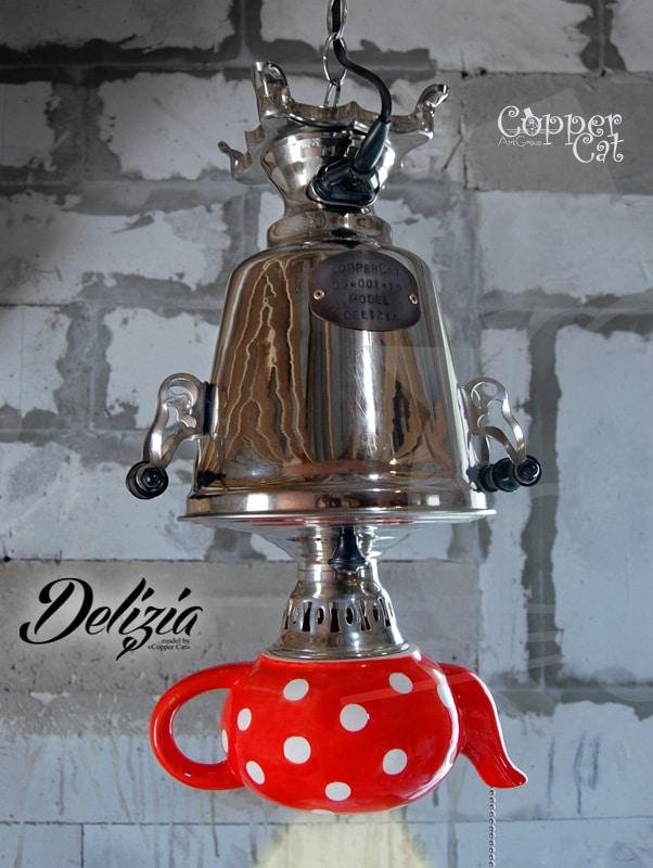 60-ies Teapot Chandelier Delizia - pendant-lighting