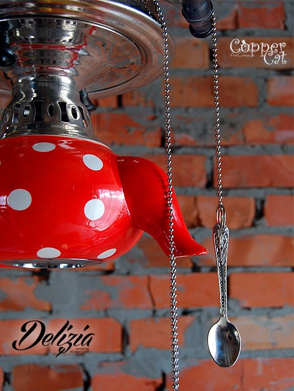 60-ies Teapot Chandelier Delizia - pendant-lighting