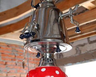 "60-ies Teapot Chandelier ""Delizia"""
