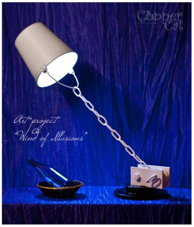 "Flying Bucket ""Desires"" Lamp"