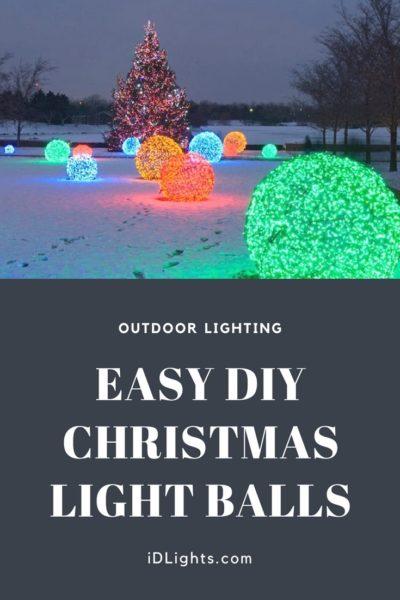 How to Make Christmas Nice Light Balls