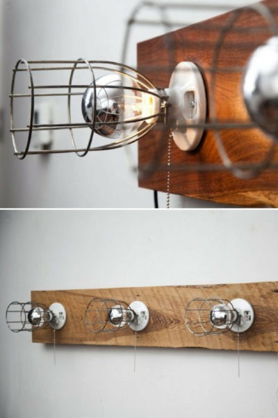 Light Sonce in Walnut Wall Sconce