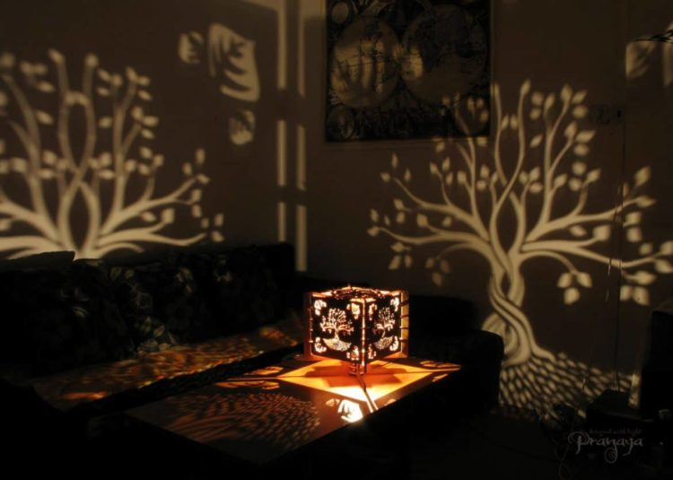 Look what you can do with Wood fragments and Hand-carving! - wood-lamps, table-lamps