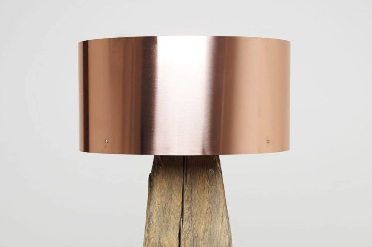 Copper Meets Bog Oak Table Lamp Table Lamps Wood Lamps