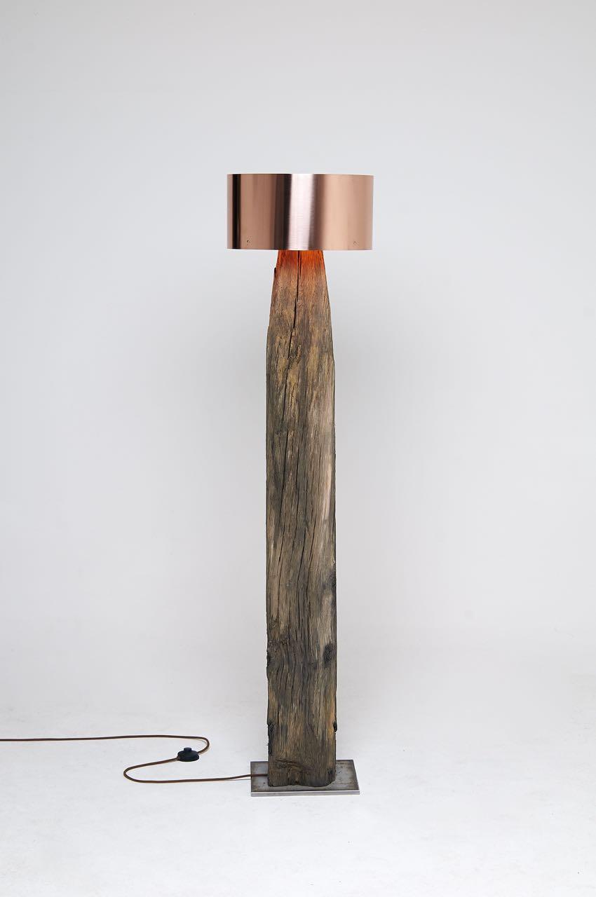 Copper Meets Bog Oak Table Lamp Id Lights