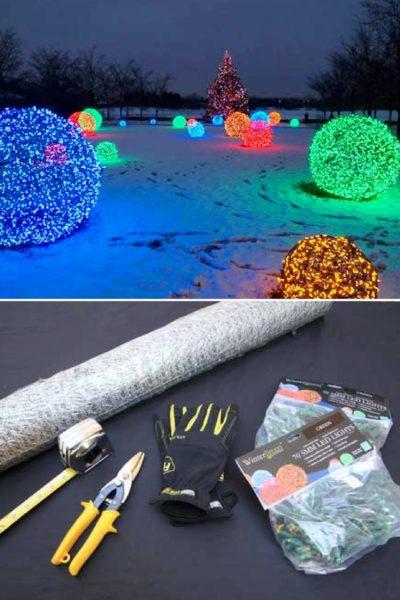 Outdoor Lighting: How to Make Christmas Nice Light Balls